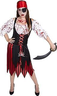 ccb9bb4c072e Disfraz de Pirata a Rayas para Mujer Adulta Especial para Fiestas de  Disfraces y