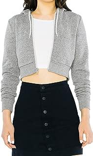 American Apparel Women's Peppered Fleece Cropped Long Sleeve Hoodie