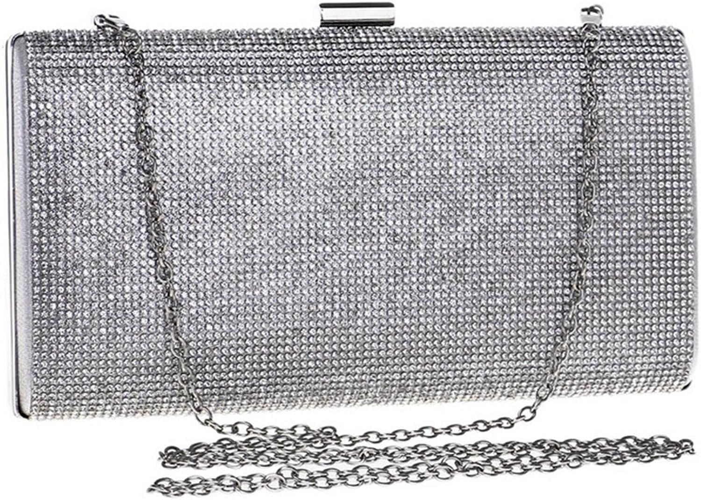 AHIMITSU Tote Damen Strass Crossbody Handtasche Kleid Abendtasche Abendtasche Abendtasche Clutch Purse für Frauen (Farbe   Silber) B07PSB49Q7  Professionelles Design ce32e3