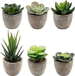 winkong 人工多肉植物 6点セットミニ 人工観葉植物 枯れない インテリア 人工観葉植物 フェイクグリーン