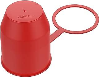 Schutzkappe für Anhängerkupplung ohne Diebstahlsicherung Rot Abdeckkappe