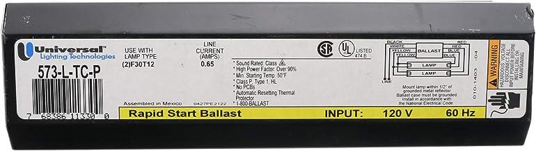 Universal 573-L-TC-P Magnetic Fluorescent Ballast, 2-Lamp, T12 F30T12 30W, 120V