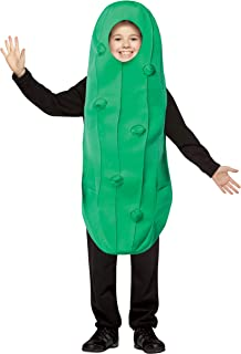 Pickle Costume Kids Dill Cucumber Gherkin Dress Up Party Cosplay Costumes, Child Size 7-10
