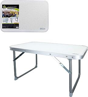 comprar comparacion Aktive 52836 - Mesa plegable baja 60 x 40 x 40 cm Camping blanca