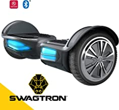 Swagtron Swagboard Elite Hoverboard – Bluetooth Speaker & Lights, Personalize Experience w/Android/iOS App