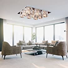 LightInTheBox® K9 Crystal Flush Mount con 9 luces en