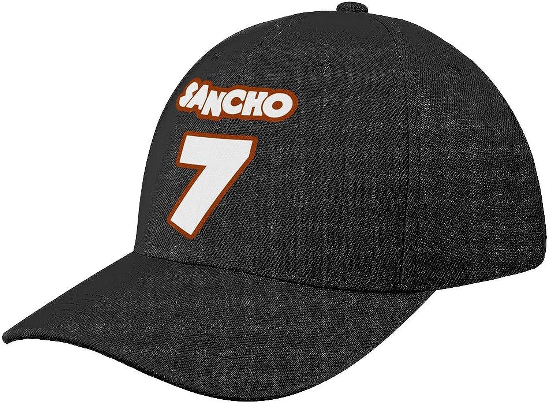 7 Jadon Sancho, Soccer Fans Baseball Cap Dad Hat Sun Shade Peaked Hats Adjustable Caps for Men Women Black