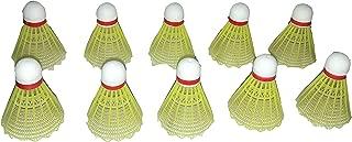 Sportsholic 10 Pcs Plastic Badminton Shuttlecock for Kids 3 to 8 Years