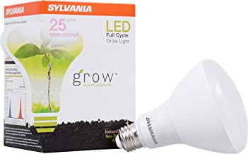 Sylvania LED Full Cycle Grow Light Bulb, BR30 25W Equivalent, Indoor and Outdoor, Frosted - 1 Pack (40071)
