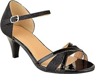 3c6ea01b856437 Fashion Thirsty Sandales à Petits Talons - à Bride/Bouts Ouverts - Mariage/ Fête