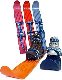 6fb3ba86d2 TEAM MAGNUS Kids Skis w Quality Buckled Straps - 65cm Plastic Mini Snow Skis  to