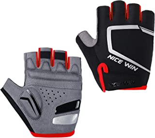 Cycling Gloves - Motorcycle/Mountain Bike - Half-Finger Workout Gloves Road Bicycle Glove for Men or Women