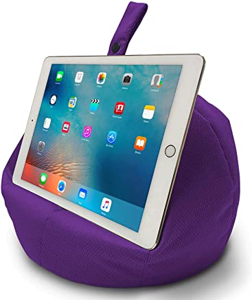 COSY HOLDER Pumpkin Beanbag Cushion - Tablet & E-Reader (eBook) Holder/Stand. Ideal for iPad, Samsung Galaxy, Kindle & Books. Holds Your Device at Any Viewing Angle. Ideal for Home or Travel (Purple)