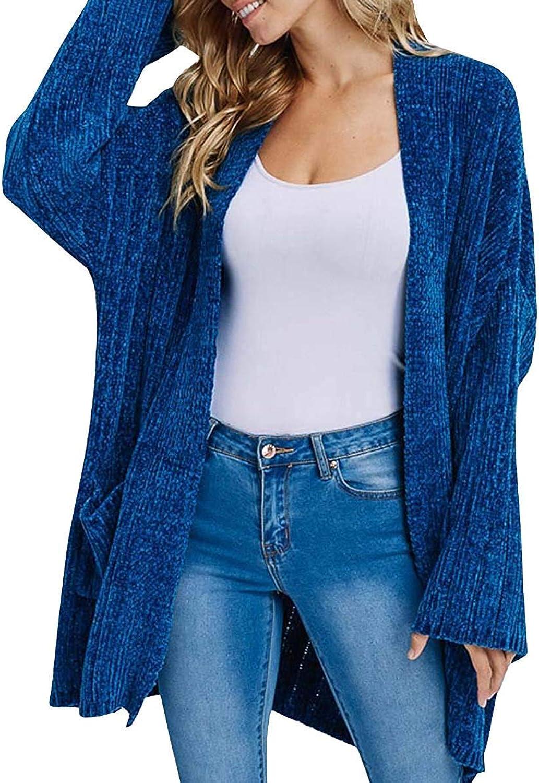 ALLAK Women's Soft Knit Sweater Outwear Open Front Kimono Cardigans