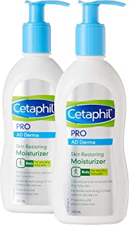 Cetaphil PRO AD Derma Skin Restoring Moisturizer, 295ml (Pack of 2)