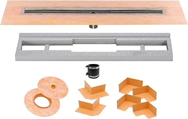 Schluter Systems Kerdi Line Channel Body Shower Drain 32 KL1V60E80