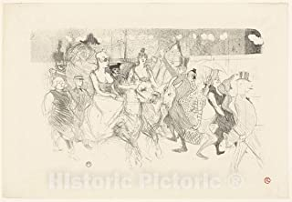 Historic Pictoric Print : A Gala Evening at The Moulin Rouge, Henri de Toulouse-Lautrec, c 1893, Vintage Wall Decor : 24in x 16in
