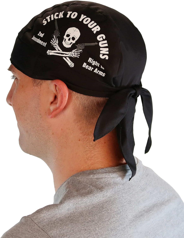 Sparkling EARTH Skull Caps Doo Rags Do Rag - Stick to Your Guns 2nd Amendment