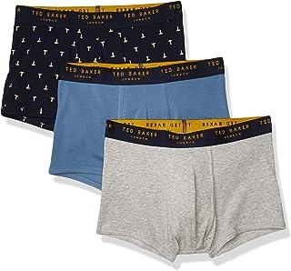 Ted Baker Men's Underwear Stretch Cotton Trunks, 3 Pack
