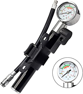 LouKang Mini Bike Pump Bicycle Pump Portable Bicycle 210PSI/15BAR High PressureHand Air Pump Withe Gauge for Bike and Ball