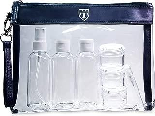 TRAVANDO ® Neceser transparente, 7 envases impermeables (