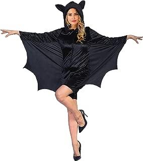 EraSpooky Women's Halloween Bat Costume Animal Pajamas Onesie Vampire Suit