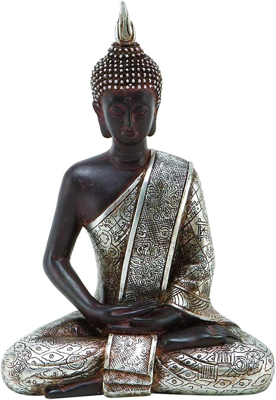Bellaa 23293 Thai Buddha Statue Meditating Peace Harmony Budha D