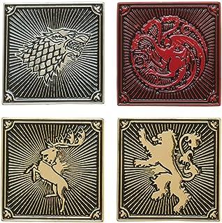 Game Of Thrones House Targaryen Lannister Baratheon Stark Lapel Pin 4 Pack