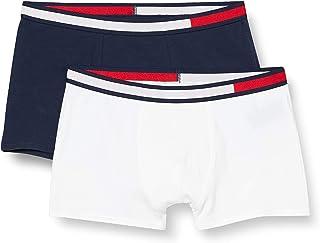 Tommy Hilfiger 2p Trunk Bóxer, Multicolor (White/Navy Blazer), 14-16 años (Pack de 2) para Niños