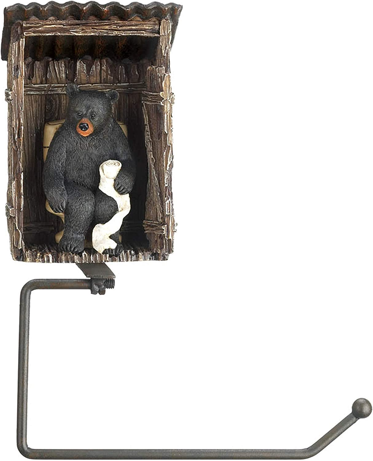 overseas Accent Plus Shipping included Bear Outhouse Paper Holder Toilet 7.32x3.75x9.5