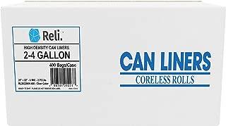 Reli. 2-4 Gallon Trash Bags (400 Count) Small Clear Garbage Bags (2 Gallon - 3 Gallon - 4 Gallon Garbage Bags), 2 Gal - 4 Gal Small Clear Trash Bags Office, Bulk