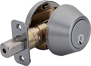 AmazonBasics Deadbolt - Single Cylinder - Satin Nickel