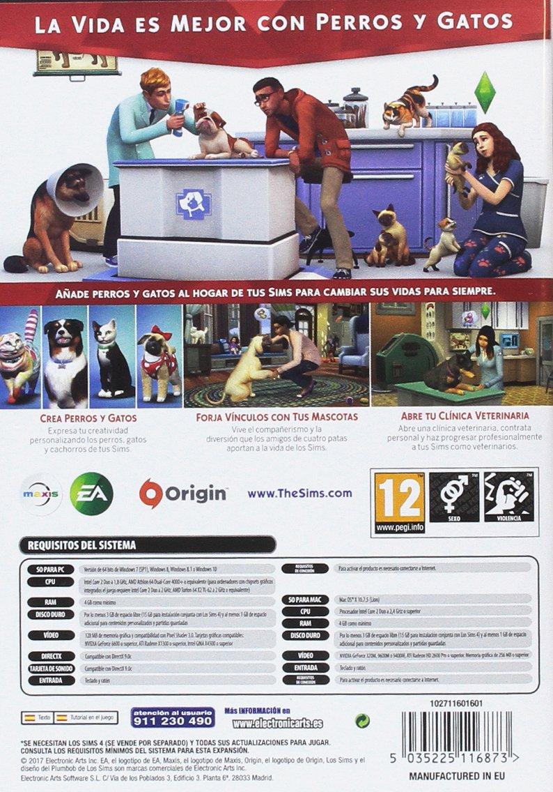 Los Sims 4 - Expansión Perros y gatos (La caja contiene un código de descarga - Origin): Amazon.es: Videojuegos