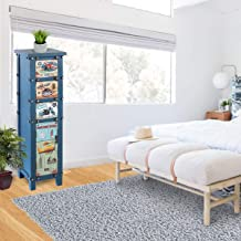 Vogue HYSH005 Cabinet with Drawer, Multi Color - H 106 cm x W 30 cm x D 30 cm