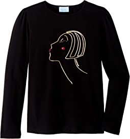 Long Sleeve Face Printed T-Shirt (Big Kids)