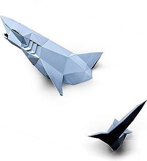 ORIGADREAM, kit de gran tiburón pre-cortado NUEVO PUZZLE 3D MODERNO montar por uno mismo para la decoración de la pared DI...
