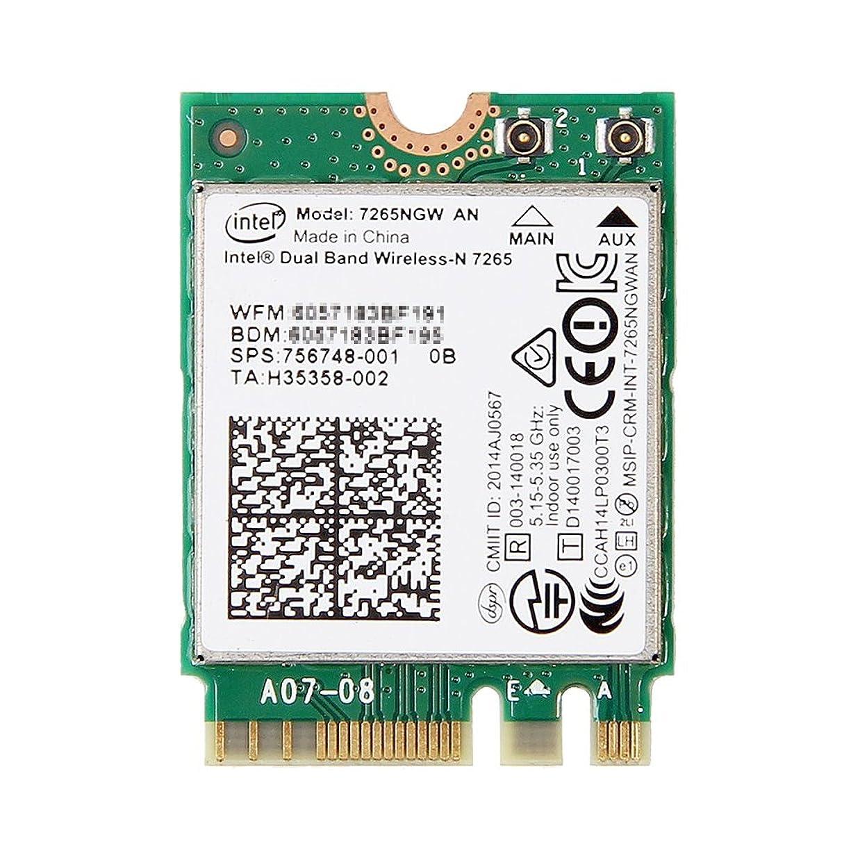 HP純正 756748-001 Intel Dual Band Wireless-N 7265 Dual Band 2x2 802.11a/b/g/n + Bluetooth 4.0 M.2 無線LANカード 7265NGW AN for HP