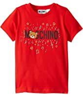 Moschino Kids - Short Sleeve T-Shirt w/ Music Toy Bear (Little Kids/Big Kids)
