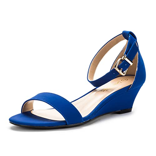 2b4c1f933c6 Blue Wedges Sandals: Amazon.com