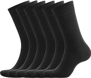 100% Cotton Dress Socks Men Comfy Casual Crew Business for Men