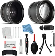 58mm Wide Angle and Telephoto Conversion Lens Accessories Kit for Canon Eos Rebel T6 T6s T6i SL1 T5 T5i T4i T3 T3i T1i T2i XSI XS XTI XT 7D 80D 70D 60D 60Da 50D 40D 30D 20D 10D