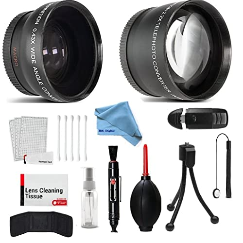 58mm Accesorios Kit Para Canon Eos Rebel T1 T2 T3 T4 T5 T6 T3i T4i T5i T6 t6s