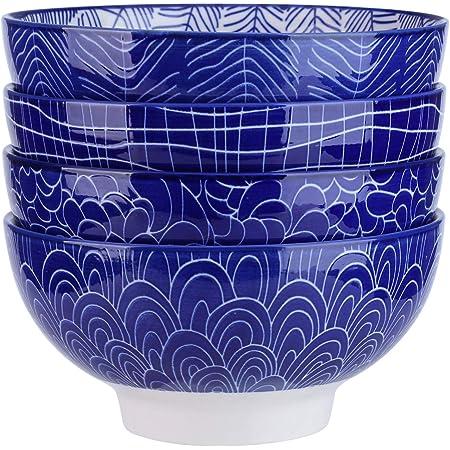 vancasso, série Takaki, Bol céréal, 4 pièces, en Porcelaine, Style Japonais