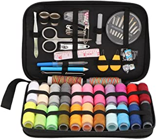 Sewing Kit, 96 Pcs Sewing Kit Basic Premium Sewing Supplies, 24 Spools of Thread -24 Color for Traveller, Adults, Kids, Be...
