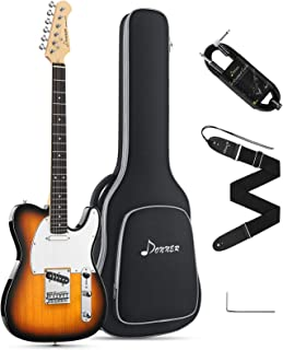 Donner 39 Inch Telecaster Electric Guitar Full Size Tele Style Solid Body Sunburst Beginner Kit with Bag, Strap, Cable,DT...