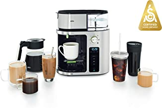 Braun MultiServe Machine 7 Programmable Brew Sizes / 3 Strengths + Iced Coffee, Glass..