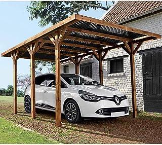 Madeira Carport 1 Voiture Bois traité Autoclave - Enzo