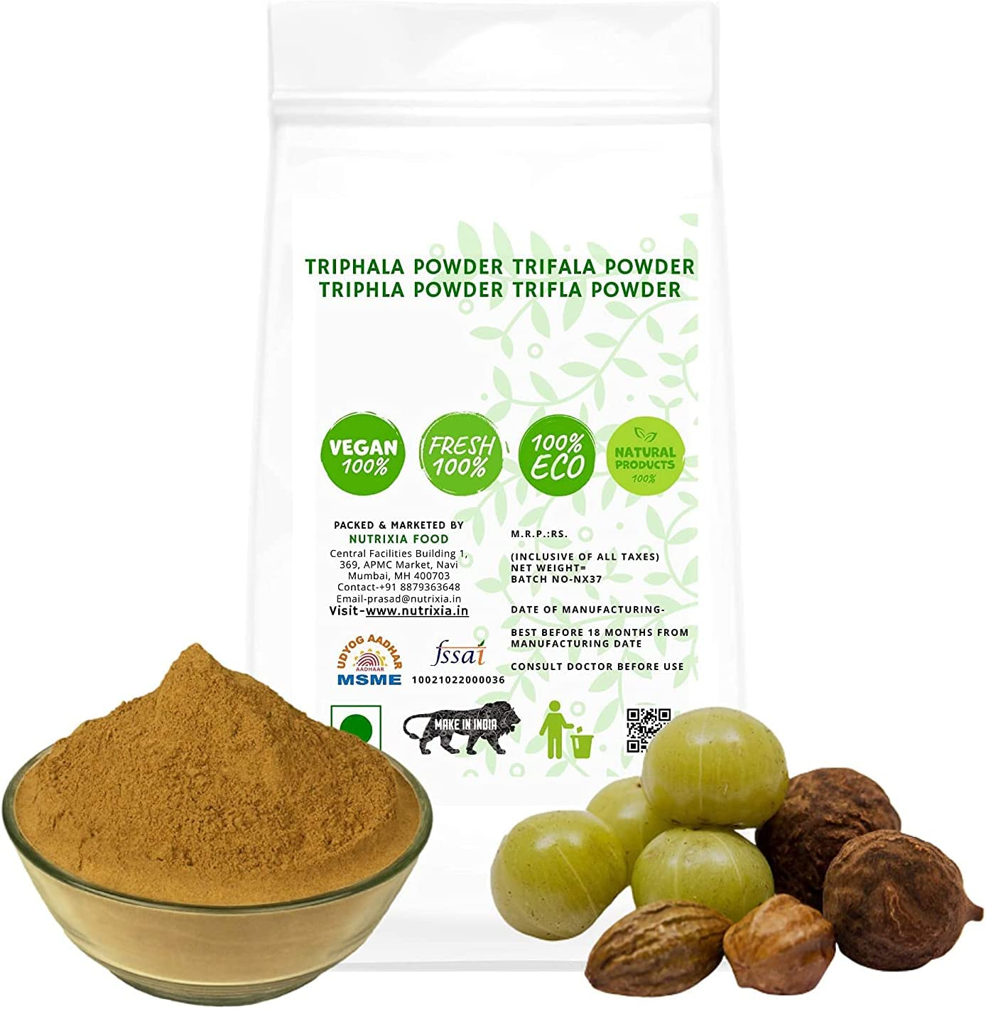 Trisha Branded goods TRIPHALA Powder TRIFALA TRIFLA TRIPHLA Powd At the price