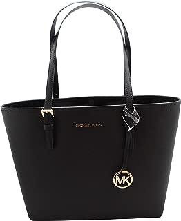 Michael Kors Jet Set Travel Medium Carryall Tote Shoulder Bag Black
