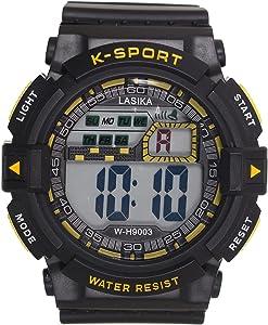 Lasika W-H9003 Sport Watch For Men - Black